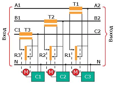 Схема трехфазного